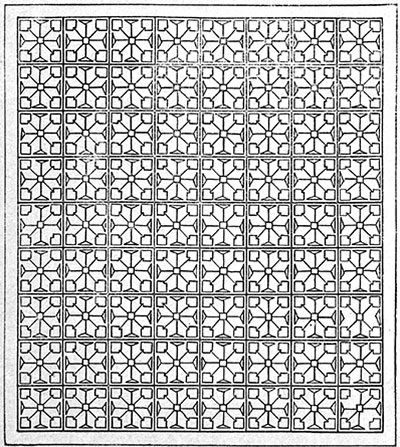 Arrowhead Bedspread Pattern #611 chart