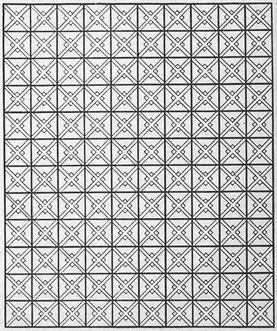 Popcorn Trail Bedspread Pattern #612 chart