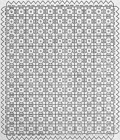 Meadow Daisy Bedspread Pattern #62 chart