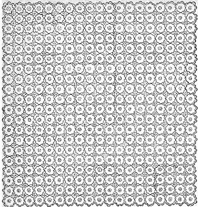 Queen Anne's Lace Bedspread Pattern #642 chart
