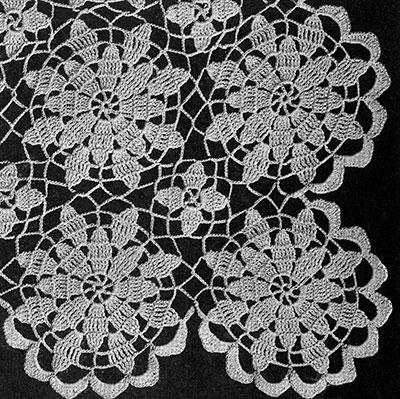 Queen Annes Lace Bedspread Pattern #642 Crochet Patterns