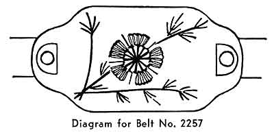 Belt Pattern, No. 2257 chart