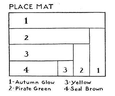 Luncheon Set Pattern chart