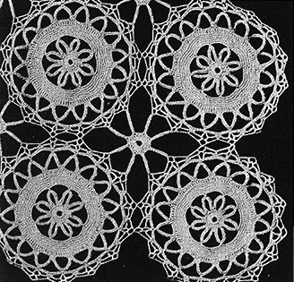 Flower Wheel Tablecloth Pattern #7066 swatch