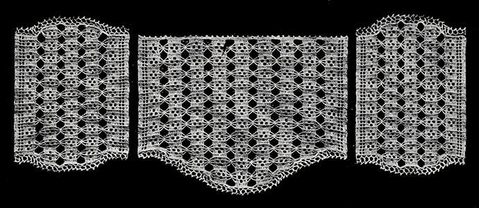Mosaic Antimacassar Set Pattern #774