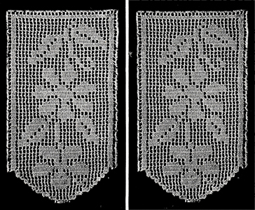 Antimacassar in Filet Crochet Pattern #64