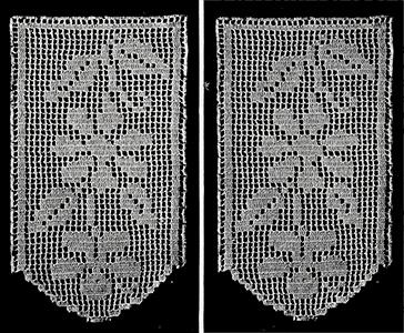 Antimacassar in Filet Crochet Pattern #64