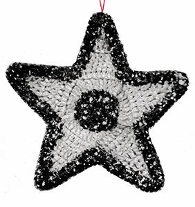 Glitter Star Ornament Pattern