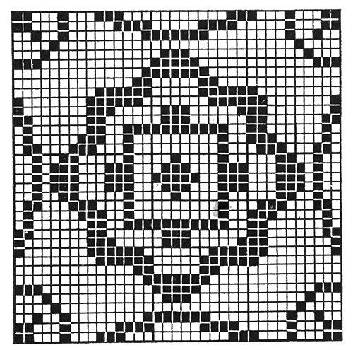 Cape Cod Afghan Pattern #1701 chart