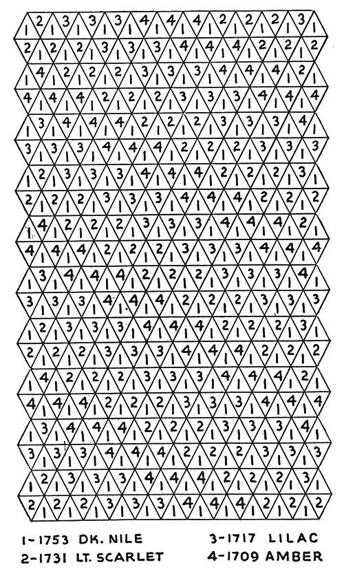 Harlequin Afghan Pattern #1707 chart