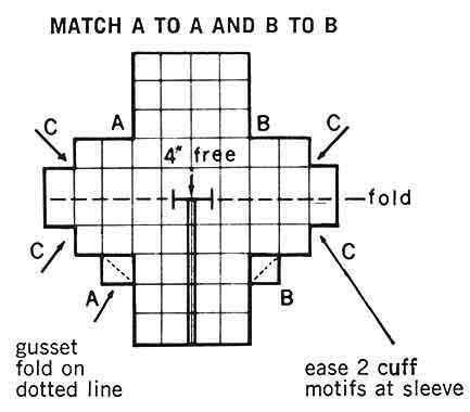 Motif Suit Pattern chart