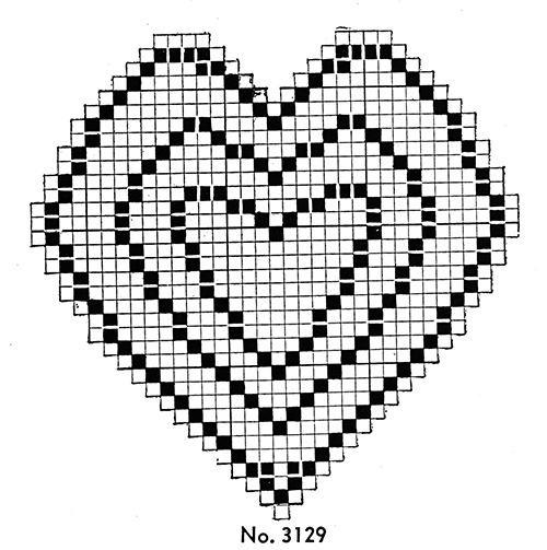 Heart Pincushion Pattern #3129