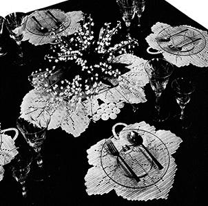 Maple Leaf Luncheon Set Pattern