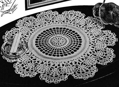 Spider Web Lace Doily Pattern #4503