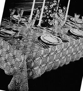 Cathedral Windows Tablecloth Pattern #4508