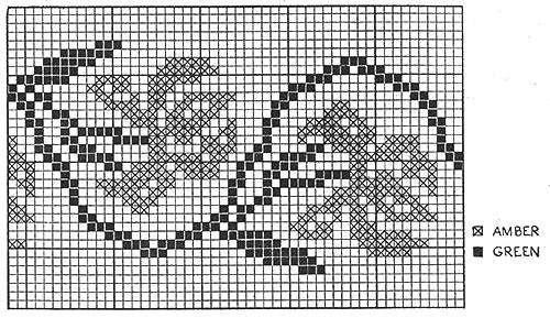 Плед тунисским вязанием схемы 18