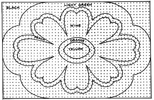 Floral Tuft Rug Pattern Chart