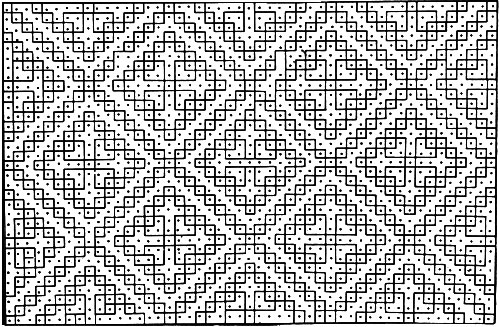 Diamond Tile Rug Pattern Chart