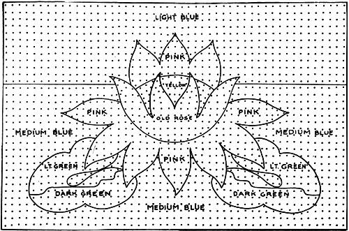 Water Lily Rug Pattern Chart