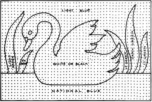 White Swan Rug Pattern Chart