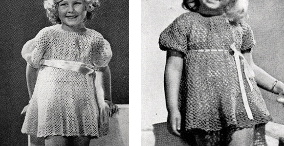 Child's Dress, Bolero and Hat Pattern #600