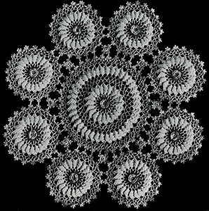 Rambler Rose Doily Pattern #7406