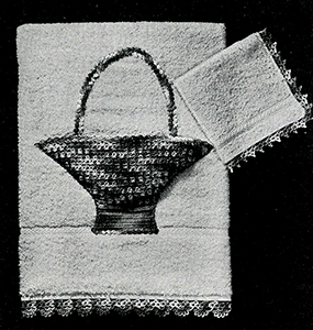 Applique Basket and Edgings Pattern #7409