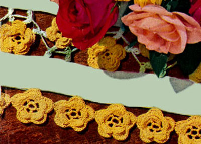 Rose Luncheon Mat Edging & Insertion Pattern