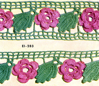 Rose Edging & Insertion Pattern