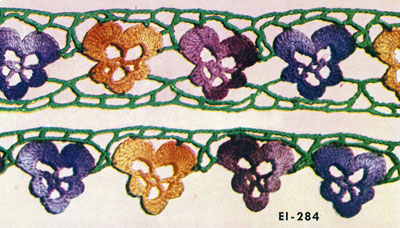 Pansy Edging & Insertion Pattern