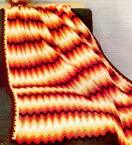 Autumn Chevron Afghan Pattern