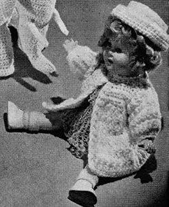 Doll's Coat and Hat Pattern #609