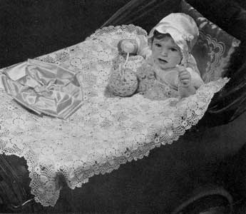 Crocheted Carriage Cover Pattern #621
