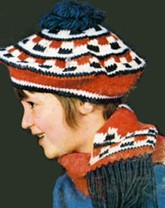 Crochet Beret and Scarf Pattern #2172