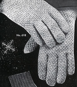 Mens Afghan Stitch Gloves Pattern 618 Crochet Patterns