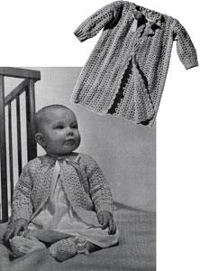 Sacque, Kimono and Bootees No. 5302 Pattern