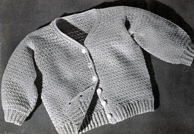 Baby Sweater No. 5310 Pattern