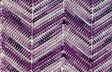 Shaded Chevron Afghan Pattern