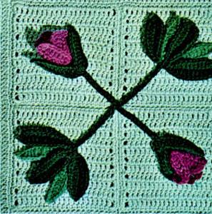 Tulip Garden Afghan Pattern