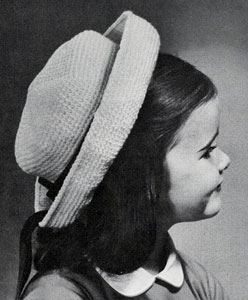 Little Girl's Breton Hat Pattern