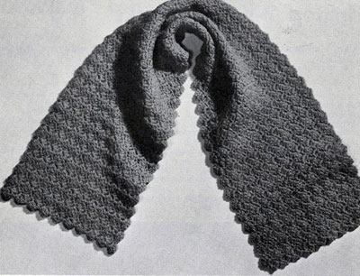 Crocheted Shell Stitch Scarf Pattern A 327 Crochet Patterns