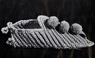 Women's Crocheted Slippers Pattern
