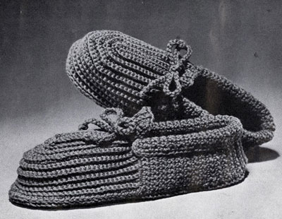 Men's Crocheted Slippers Pattern