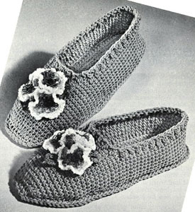 Posy Slippers Pattern