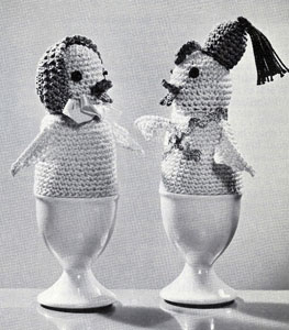 Cock-a-Doodle Egg Warmers Pattern