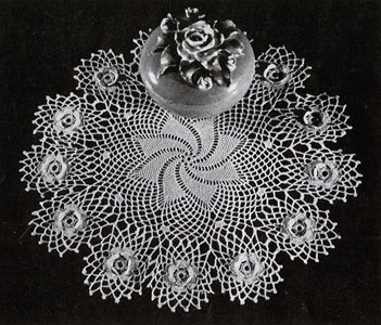 Rose Whirl Doily Pattern #7272