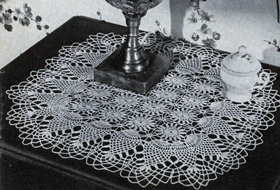Pineapple Night Table Doily Pattern #7854