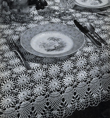 Pineapple Tablecloth Pattern #7859