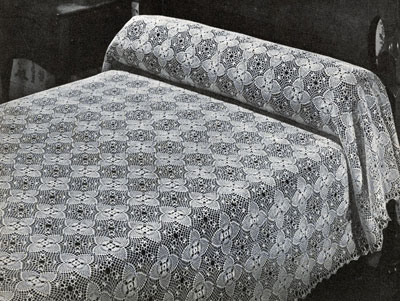 Pineapple Bedspread Pattern #7866-B