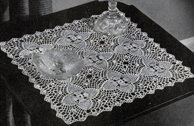 Free Crochet Patterns For Table Doilies : Pineapple Night Table Doily Pattern #7868 Crochet Patterns